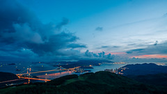 Blue Hour in Tsing Ma Bridge (AlberTsoi Photography) Tags: world life voyage trip travel bridge sunset vacation hk cloud sun holiday art home look night fun hongkong amazing place outdoor diary visualarts picture tourist follow adventure journey normal alive visiting backpacker humanbeing tramp wcw traveler humanities nowalls swagman tflers