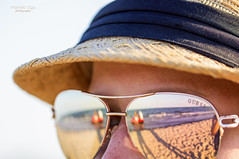 seen through my eyes (mariola aga) Tags: summer lake water beach sand woman sunglasses reflection me shadow macro closeup saariysqualitypictures thegalaxy