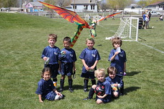 Group picture with the dragon kite 6 (Aggiewelshes) Tags: ben soccer may sean peter olsen cailin grouppicture 2013 dragonkite teamdragons