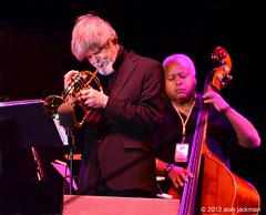 Tom Harrell and Ray Drummond, Charles McPherson Quintet featuring Tom Harrell, 2012 Detroit Jazz Festival (jackman on jazz) Tags: music michigan trumpet jazz tomharrell d7000 nikond7000 jackmanonjazz alanjackman charlesmcphersonquintet jazzfestivaldetroitdetroit