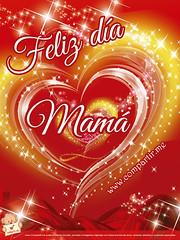 Imagen de corazón Feliz día Mamá (Compartir.me) Tags: del de la dia imagenes día frases madre ocasiones tarjetas virtuales celebres