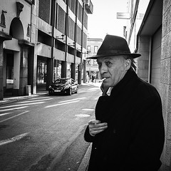 The man with the trench coat at the streets of Gothenburg. (StreetPeople) Tags: portrait blackandwhite bw monochrome square photography blackwhite moments candid streetphotography documentary squareformat streetphoto unposed blacknwhite bnw streetpeople tog decisivemoment streetcandid streetbw streetphotographybw bestcamera iphoneography streetphotobw instagramapp uploaded:by=instagram streetog worldstreetphotography danieleliasson