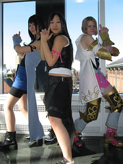 Fantasy's Angels (annaneko) Tags: cosplay finalfantasy 2008 bostonma fandom con ashe tifa rinoa animeboston hynesconventioncenter