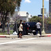 SUV Crashes at Los Angeles Center Studios