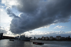 R06 HMS Illustrious (PaulHP) Tags: storm london rain thames clouds river anniversary greenwich navy royal battle atlantic boa 70th illustrious rn hms r06