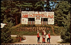 Santa's Village, Bracebridge, Muskoka ON (SwellMap) Tags: road signs monument public sign vintage advertising design 60s highway gate arch fifties message postcard suburbia entrance style kitsch retro billboard route nostalgia chrome freeway gateway billboards americana 50s lettering welcome roadside populuxe sixties babyboomer consumer coldwar midcentury spaceage atomicage archwaypc