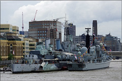 HMS Belfast & HMS Edinburgh (PaulHP) Tags: london senior thames river edinburgh anniversary navy royal battle belfast atlantic boa destroyer service 70th rn hms destroyers d97