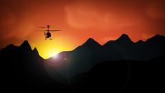 Operation: Early Bird (Low Res) Tags: sunset silhouette apocalypsenow activeassignmentweekly bestofweek1 bestofweek2 bestofweek3 bestofweek4 bestofweek5 bestofweek6 bestofweek7 remotehelicopter activeassignmentweeklycreateascenewinner