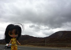Kay Sparkles Stretching Her Legs (Bebopgirl1969) Tags: mountains clouds scotland goldie cairngorms petiteblythe