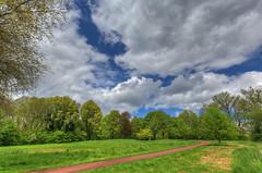 my garden, sort of... (expatwelsh) Tags: park trees sky sun green clouds creek canon garden spring bomen groen day cloudy wolken zeeland handheld tuin hdr hemel noten 1635 voorjaar terneuzen zeeuwsvlaanderen kreek photomatix 7exp cs5 othene canoneos5dmarkiii 5dmkiii topazremask
