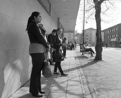 Waiting (Ken-Zan) Tags: people bw spring waiting vr falkenberg svartvitt kennethljunghav