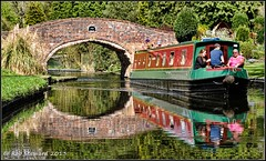 Whittington Horse Bridge (Rob-33) Tags: bridge water reflections canal barge rallying pentaxkx whittington wetreflections wetreflection staffsworcscanal whittingtonhorsebridge