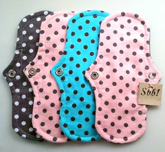 Panty Liners in Polka Dot Flannel (Sbb1LLC) Tags: light baby flow for pretty feminine panty pad mama best flannel after organic cloth bleeding heavy period pads overnight incontinence menstruation upscale unmentionables postpartum liners menstrual hygeine washable reusable fibroid sbb1 sbb1handmade waterproofpads womenhandmade