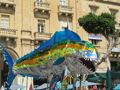 "Malta - Valletta - ""Big fish"" on parade (JulesFoto) Tags: fish fiesta malta parade bigfish valletta"