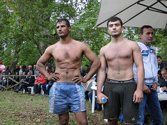 wrestlers/ Arethusa Thessaloniki Greece (d.mavro) Tags: shirtless sexy beautiful greek spring nipples body wrestling traditional north handsome hunk greece grecia thessaloniki torso wrestler biceps wrestle hommes homme greco arethusa grecoroman hansome gre  gures
