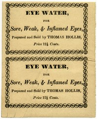Eye Water Label, Thomas Hollis, Boston, Mass. (Alan Mays) Tags: old water boston vintage ads paper advertising ma typography eyes antique massachusetts 19thcentury victorian ephemera type labels mass advertisements fonts printed medicines hollis borders weak typefaces sore chemists nineteenthcentury pharmacists inflamed eyewater druggists patentmedicines apothecaries productlabels thomashollis
