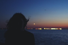 (Ane Lundeby) Tags: venice sunset italy girl ferry hair boat wind bokeh blow week20 52weeks project52