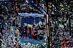 Cottage in the Wildwood (eotiv) Tags: abstract art window jj cg woods view distorted cottage deep lookout hidden wildwood impressionist hideout