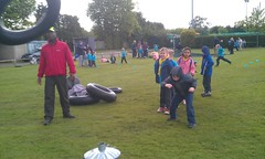 Tyre throwing (greencoatboy) Tags: sports beaver scouts alexander throw tyre flickrandroidapp:filter=none