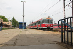 PR EN57-867 , Krakw Paszw train station 09.05.2013 (szogun000) Tags: railroad station electric set train canon tren poland polska rail railway commuter emu pr passenger trem krakw treno ezt regio pkp maopolska pocig  maopolskie lesserpoland en57 krakwpaszw przewozyregionalne canoneos550d canonefs18135mmf3556is en57867