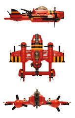 ZK-12 SABERTOOTH (nate_decastro) Tags: airplane lego aircraft fantasy scifi moc skyfi skypirate dieselpulp