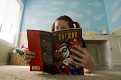 Day 2294 (evaxebra) Tags: book kid comic child harley batman quinn 365 wh 365days evaxebra quinzel