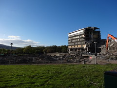 Demolition County Hall Croesyceiliog, Cwmbran 15 May 2013 (Cold War Warrior) Tags: demolition countyhall monmouthshire cwmbran croesyceiliog