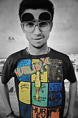 Punk?! (Ebtesam Ahmed) Tags: portrait music color colour look cool punk serious guitar shades freak swag