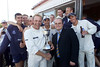 Presenting the CricInfo Second Division Championship to Chris Adams of Sussex