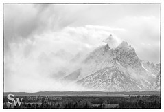 storm_bw_10 (StephenWilliDesigns) Tags: blackandwhite snow storm mountains weather jackson wyoming tetons grandteton jacksonhole grandtetonnationalpark