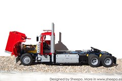 Peterbilt379-12 (Sheepo's Garage) Tags: truck pneumatic technic rc gearbox peterbilt sequential 379 sheepo hispalug