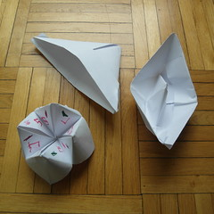Our first workshop :) (Dasssa) Tags: hat paper boat origami child fortune teller