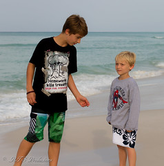 Grandsons (Rick Smotherman) Tags: ocean family sky beach gulfofmexico nature water canon children outdoors 50mm morninglight spring sand florida may 7d grandkids destin canon7d