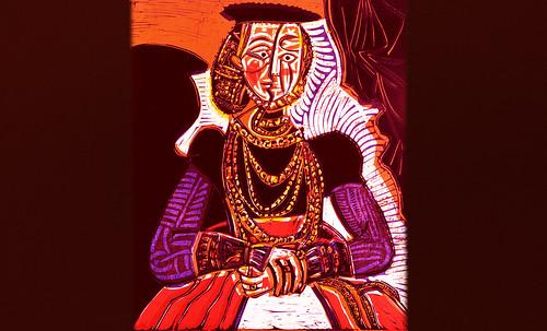 """Representación de Dama de la Nobleza, de Lucas Cranach el Joven (1564), ilustración y paráfrasis de Pablo Picasso (1958). • <a style=""""font-size:0.8em;"""" href=""""http://www.flickr.com/photos/30735181@N00/8747891670/"""" target=""""_blank"""">View on Flickr</a>"""