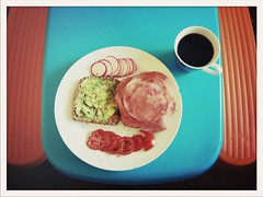 Saturday Breakfast (voidboi) Tags: breakfast tomato bread avocado bacon yum toast rye delicious radish pastrami