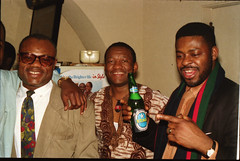 Equator Club Philadelphia People African Ethnic Cultural Fashion Show March 1994 053 Chef Abu & Friday with Nigerian Star Beer (photographer695) Tags: equator club philadelphia fashion show march 1994 chef abu friday with nigerian star beer african ethnic cultural people