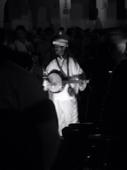 Scruggs (Douguerreotype) Tags: street bw musician night morocco marrakech uploaded:by=flickrmobile flickriosapp:filter=nofilter