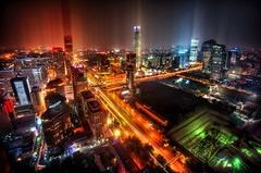 Downtown Beijing After Rain (Stuck in Customs) Tags: china city urban rain night smog asia cityscape skyscrapers beijing may pollution metropolis prc northern peking dystopian northernchina 2013 stuckincustoms treyratcliff peoplesrepublicofchina stuckincustomscom sonynex7