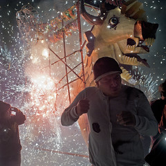 Shit can get really real when youre in the thick of it during the Fireworks Festival in Tultepec, Mexico.. (Dancing Weapon of Mass Destruction) Tags: festival mexico fire fireworks smoke explosion 420 gnarly firecrackers tultepec expolsives gnardawg shitisreal