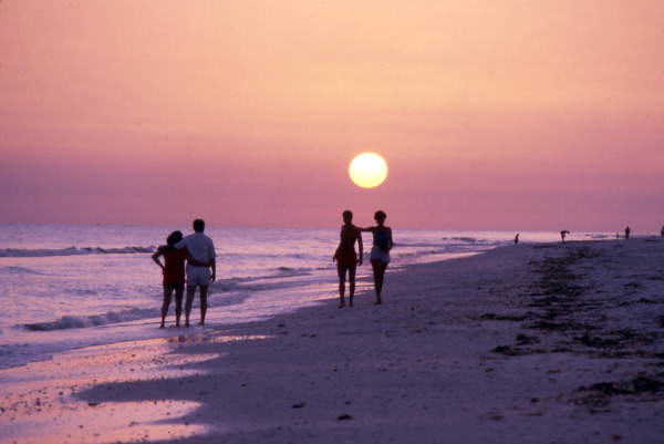 Couples on the beach at sunset: Captiva by State Library and Archives of Florida, on Flickr