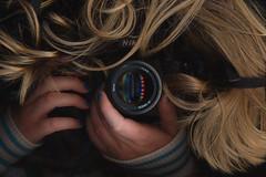 Lens Happy. (evilibby) Tags: camera 50mm hands nikon scan libby 365 blondehair nailvarnish scanography snufkin 365days 3656 365days6 lenshappy theteleidoscope
