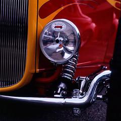 paint and chrome (glen.humphrey) Tags: kodak headlight roadster hasselblad500cm