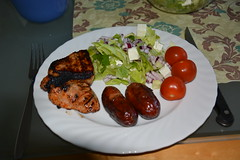 My dinner tonight (petrusko.rm) Tags: summer food dinner nikon sausage bbq meat sallad eat barbecue dslr 2013 d5200