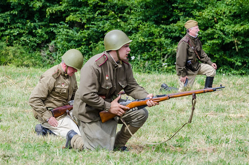 Soviet infantry charge