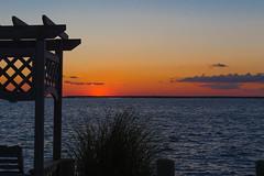 Bench and Sunset at LBI (masemase) Tags: sunset beach newjersey unitedstates august lbi longbeachisland shore jerseyshore holgate longbeachtownship