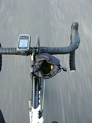 Close to hand (Phil Gradwell) Tags: mountain motion blur commuting handlebar feedbag dolan revelate preffisio