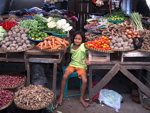 Indonesia - Lombok - Young Girl At Market