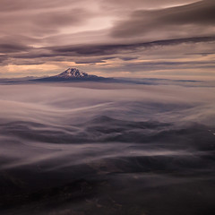 Window Seat (mickle229) Tags: mountain window clouds oregon plane airplane washington view aerial pdx mtadams