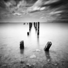 Once upon a time (theloneman) Tags: world longexposure shadow blackandwhite seascape abstract detail travelling nature water landscape blackwhite seaside asia cambodia seasia soft alone moody kep wide perspective dramatic peaceful blurred minimal backpacking ethereal nd dreamy aged lowkey stillness 1740mm minimalist atmospheric 1740 pondering uwa ndfilter ndgrad 10stop leefilters canon5dmkii krongkep 5dmkii bigstopper leebigstopper seasiatravelling