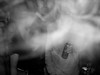 Charlotte and Ed's Pentonville party (Gary Kinsman) Tags: london pentonville affleckstreet n1 2006 houseparty party bw blackwhite flash pentonvilleroad drinking smoke cigarettesmoke obscure pose smile manic people person